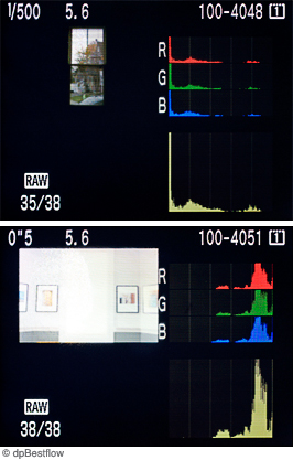 In-camera histograms