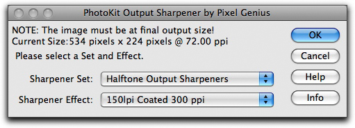 PhotoKit output sharpener